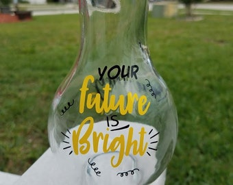 Graduation Gift- Your future is Bright-Glass Jar