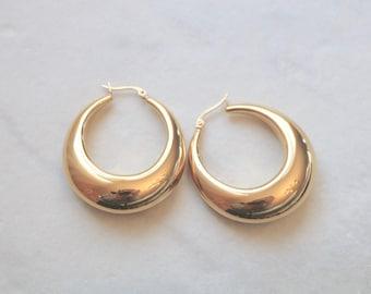 7b328fedf 2 STYLES - Large 18K Gold Plated Stainless Steel 'ARKADIA' Hoop Earrings