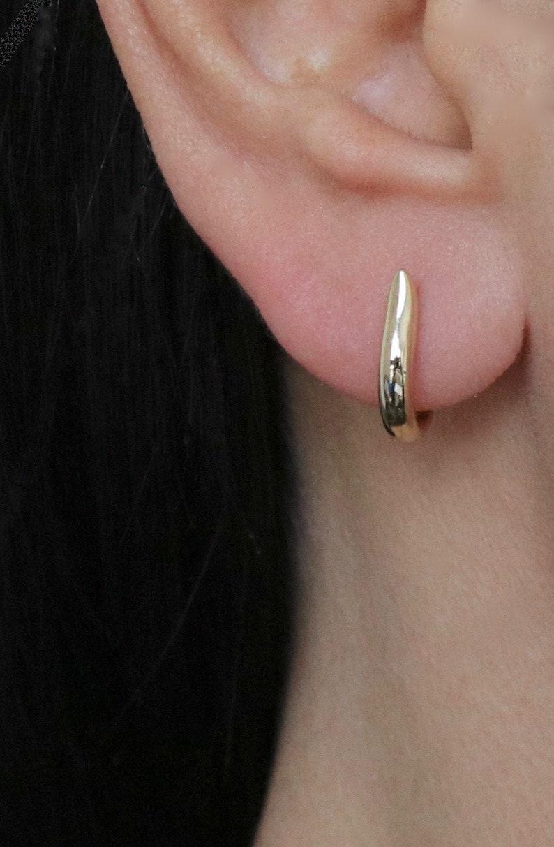 Vermeil HESTIA Huggie Hoop Earrings