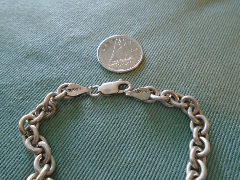 NEW LISTING Rolo Chain 5mm Sterling Silver Bracelet 7 78