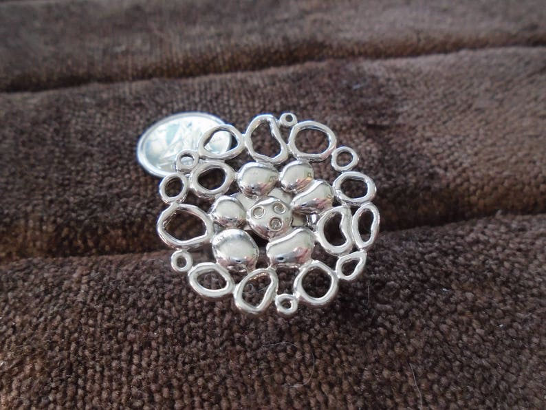 HDIA Flower Cutout Sterling Silver Ring Size 7