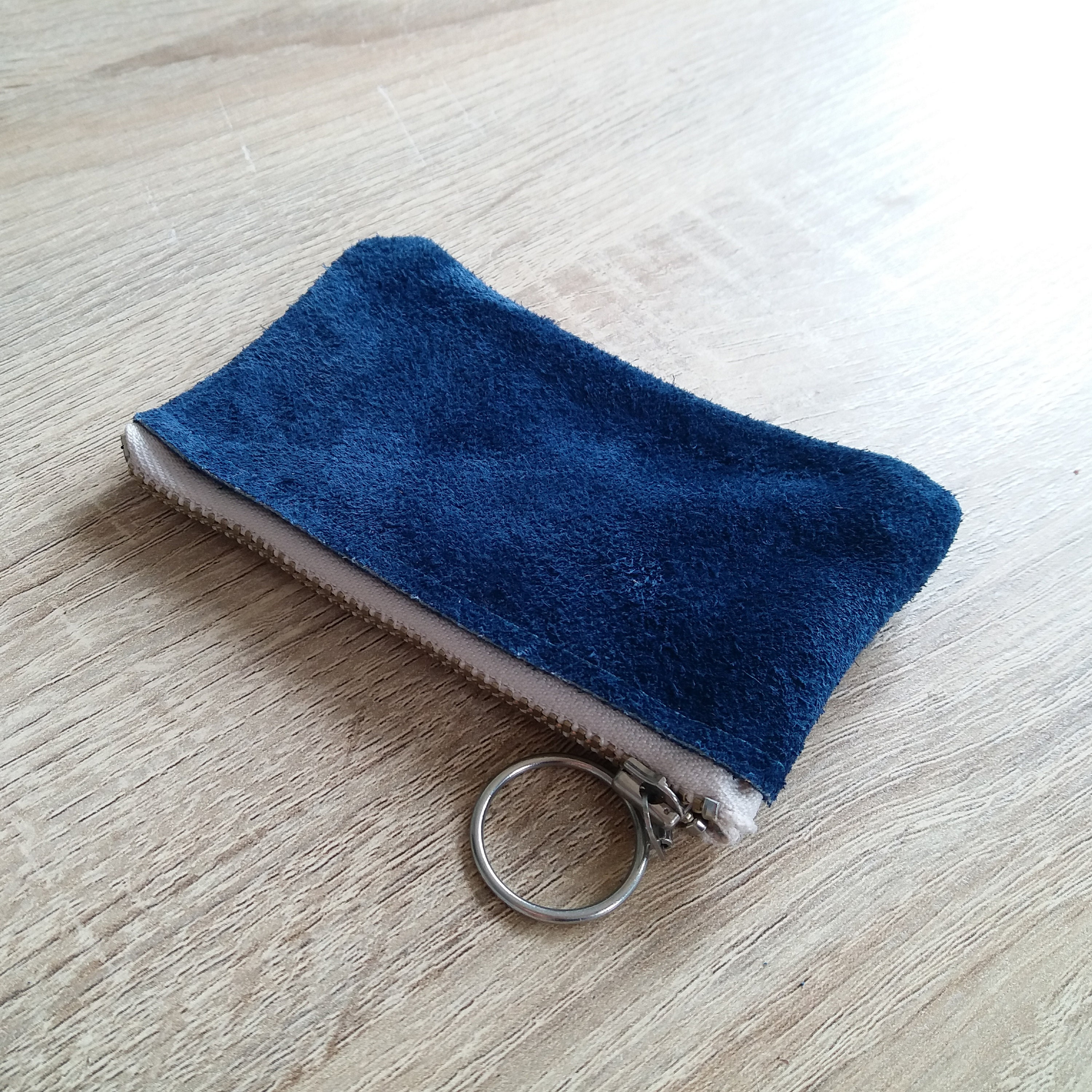 9aa66592b871 Small blue suede leather purse