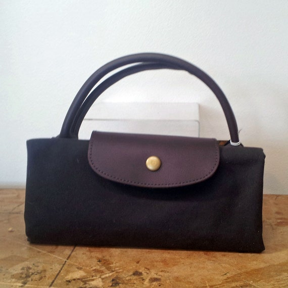 Fold up travel bag and weekender - Leather and Waxed Cotton Bag - Extra suitcase - Holdiay bag
