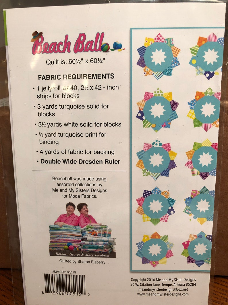 Beach Ball pattern by Me and My Sister Designs