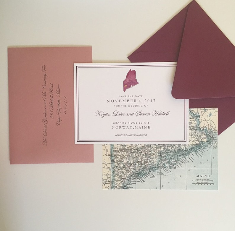 Watercolor Map Invitations Map Wedding Invitations Map Save The Dates
