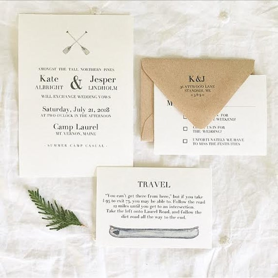 Summer camp wedding invitations summer camp wedding suite stopboris Images