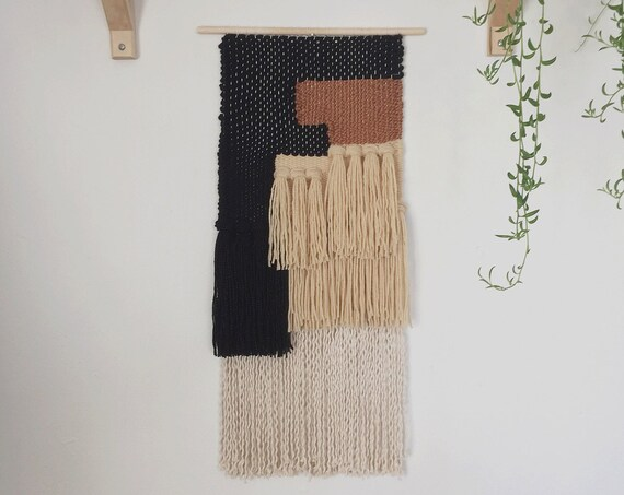 memphis / woven wall hanging