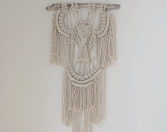 poppy / macrame wall hanging