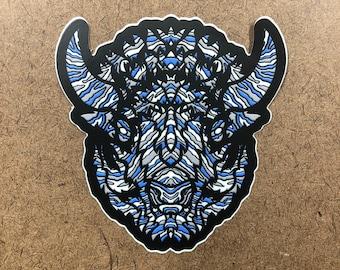 Isobel - Buffalo Themed Die Cut Sticker