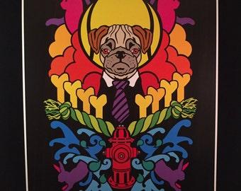 Dogma - Pug - by Cryptic Crayon - 11x14 limited 2016 print!