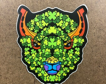 Lucky - Buffalo Themed Die Cut Sticker