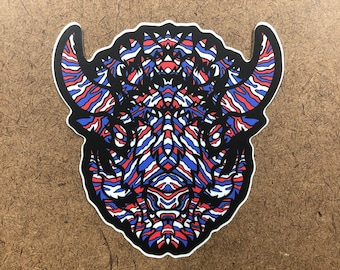 Mafia - Buffalo Themed Die Cut Sticker