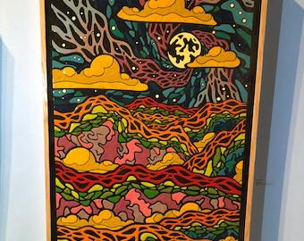 "Night Vision - Original Melted Crayon Art - 24""x35"""