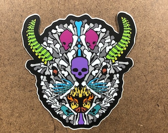 Bones - Buffalo Themed Die Cut Sticker