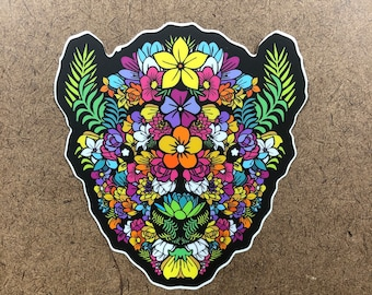 In Bloom - Buffalo Themed Die Cut Sticker