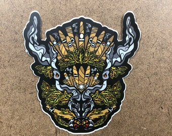 Puff - Buffalo Themed Die Cut Sticker