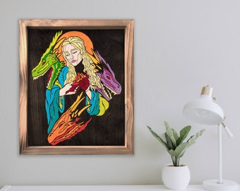Mother - by Cryptic Crayon - 16x20 melted crayon art