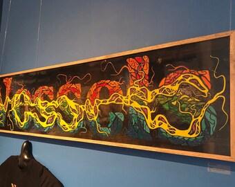 "Vessels - Original Melted Crayon Art - 61""x13.5"""