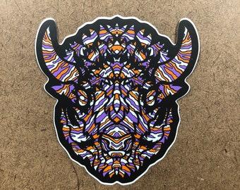 B-O-X - Buffalo Themed Die Cut Sticker