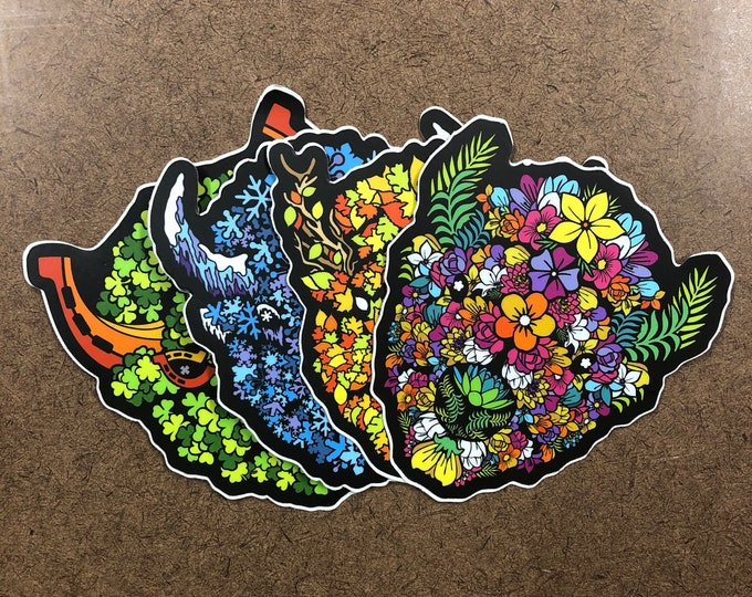 Featured listing image: Seasonal Pack - Buffalo Themed Die Cut Sticker