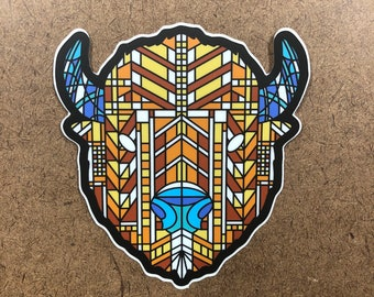 Glass - Buffalo Themed Die Cut Sticker