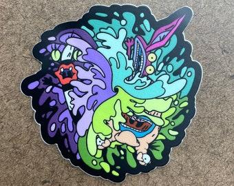 Flushed - Die Cut Sticker