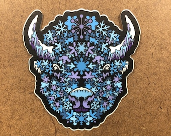 BuffaSnow - Buffalo Themed  Die Cut Sticker