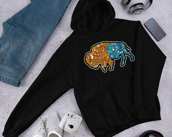 Glass Buffalo Too - Hooded Sweatshirt