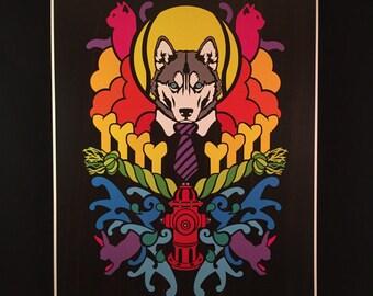 Dogma - Husky - by Cryptic Crayon - 11x14 limited 2016 print!