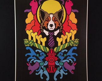 Dogma - Collie - by Cryptic Crayon - 11x14 limited 2016 print!