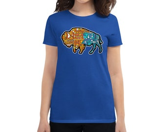 Glass Buffalo Too - Women's short sleeve t-shirt