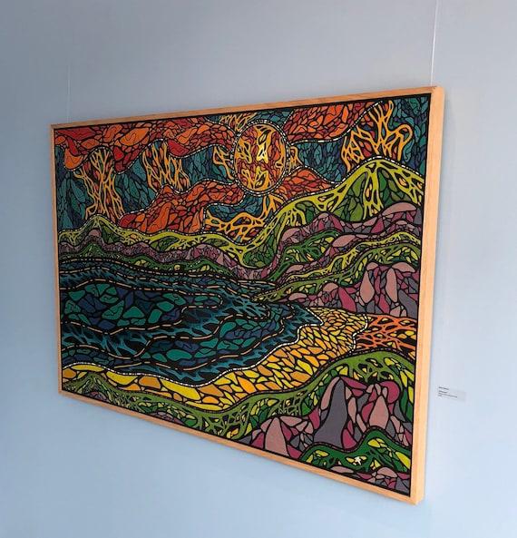 "Untouched - Original Melted Crayon Art - 52""x36"""