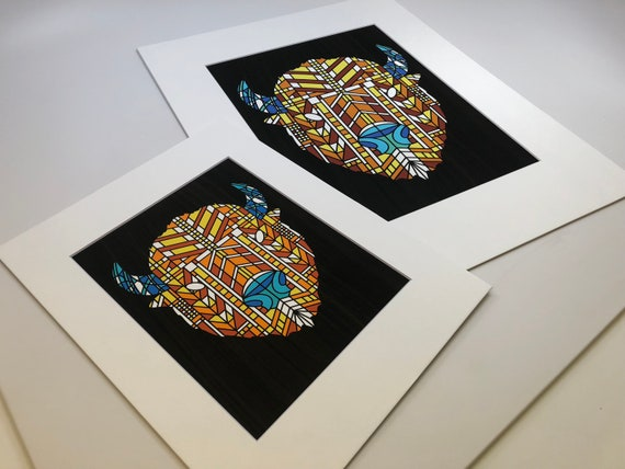 Buffalo Head Series Archival Matted Prints