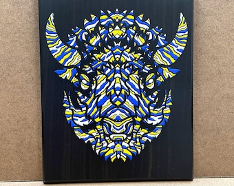 """Warpath - Wall Plaque - 8x10"""" - Ready to hang"""