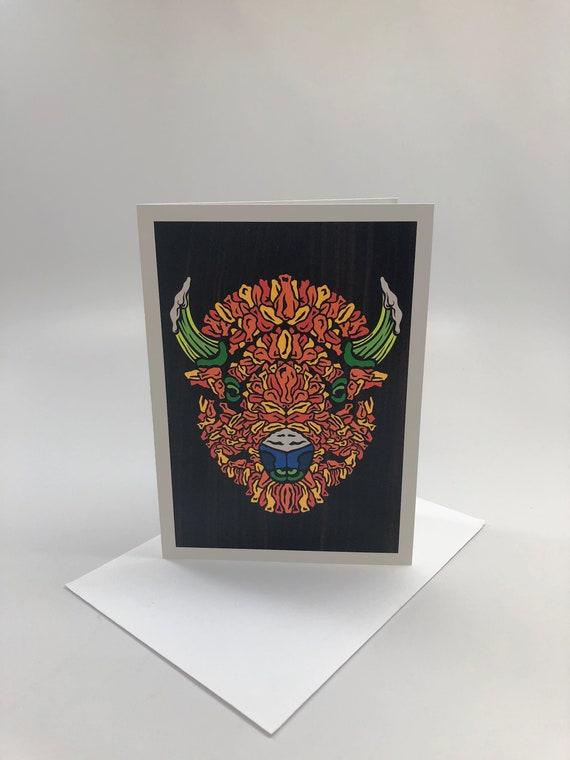 Buffalo Head Series Fine Art Greeting Cards