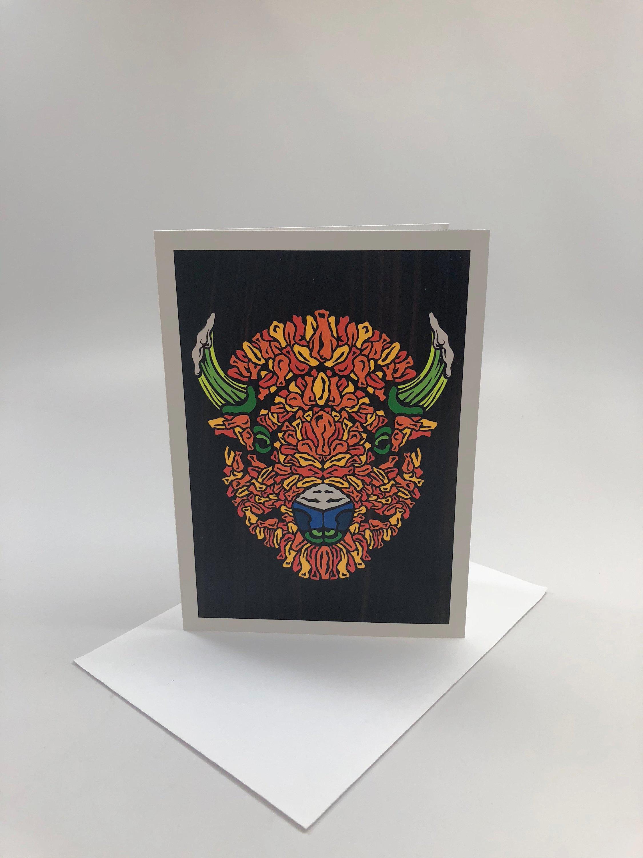 Buffalo head series fine art greeting cards m4hsunfo