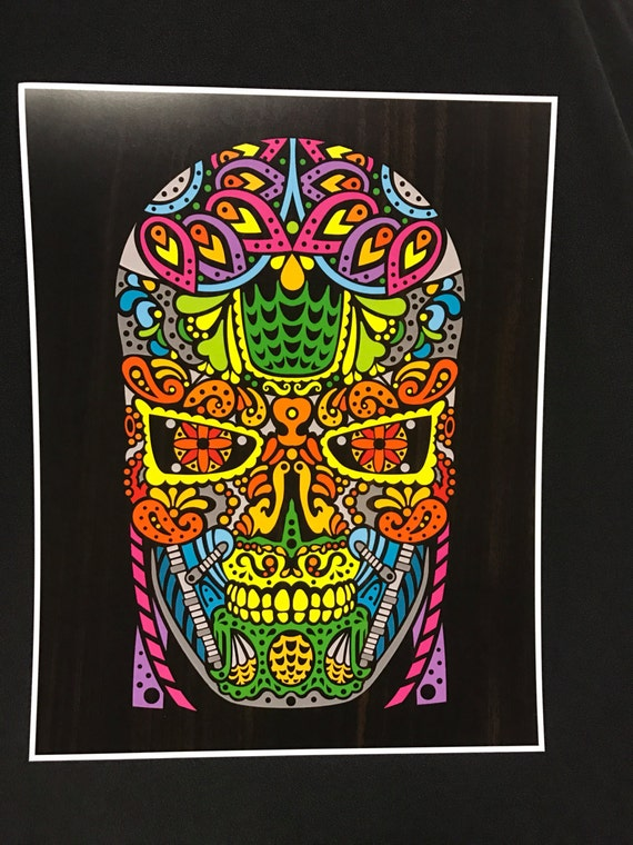 Sugar Skullminator - by Cryptic Crayon - 11x14 limited 2016 print!