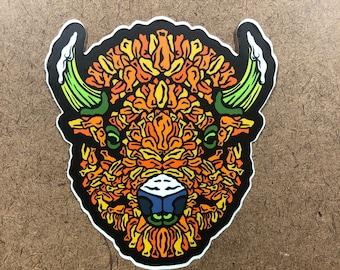 Winged - Buffalo Themed Die Cut Sticker