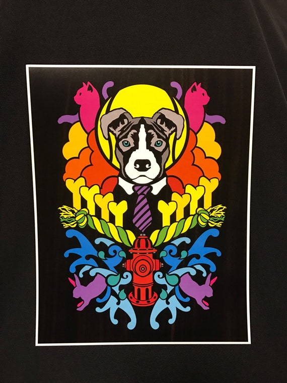 Dogma - Pitbull - by Cryptic Crayon - 11x14 limited 2016 print!