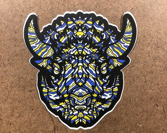 Warpath - Buffalo Themed Die Cut Sticker