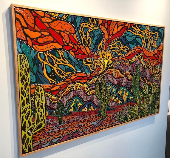 "Vision Quest - Original Melted Crayon Art - 60""x38"""