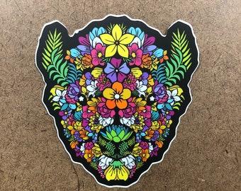 In Bloom - Buffalo Themed Die Cut Sticker