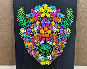 """In Bloom - Wall Plaque - 8x10"""" - Ready to hang"""