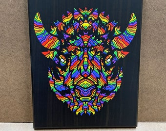 """Prideful - Wall Plaque - 8x10"""" - Ready to hang"""