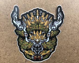 Puff - Buffalo Themed Die Cut Sticker