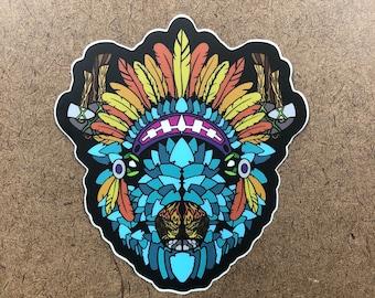 Arrowhead - Buffalo Themed Die Cut Sticker