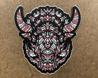 No Goal - Buffalo Themed Die Cut Sticker