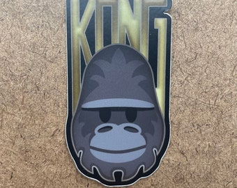 King - Die Cut Sticker