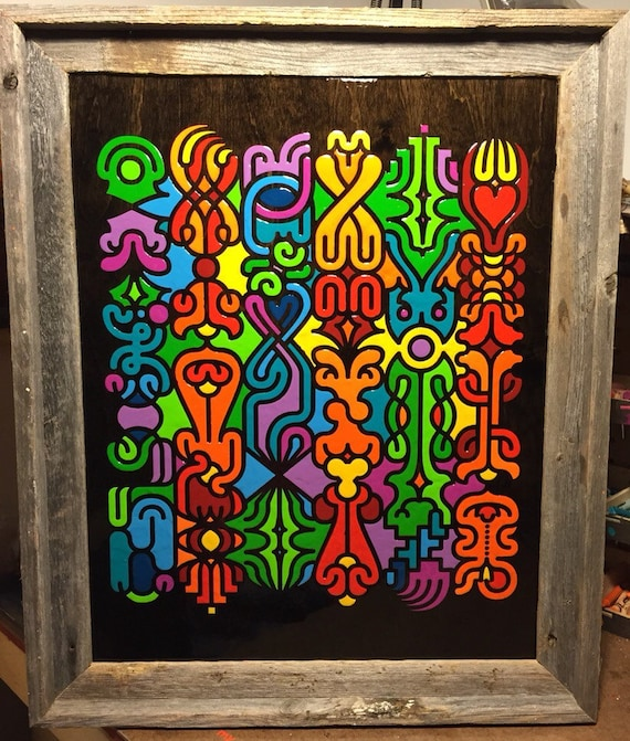 Organized Chaos - By CRYPTIC CRAYON- Melted Crayon Original Art, 16x20 Sale!
