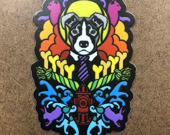 Dogma (pitbull) - Die Cut Sticker